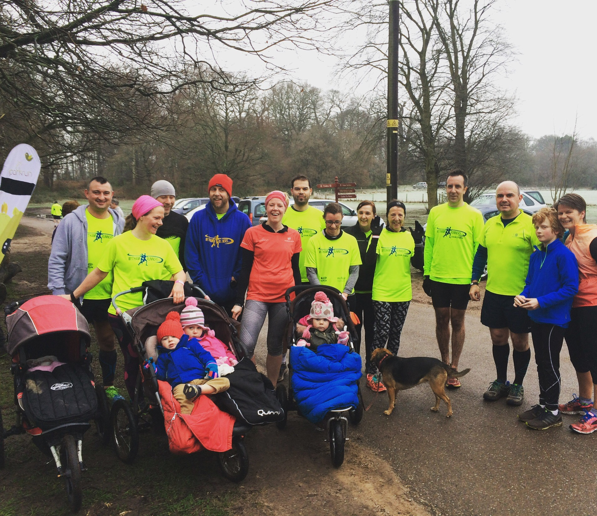 Clumber park parkrun on New Years Day with Witham Runners