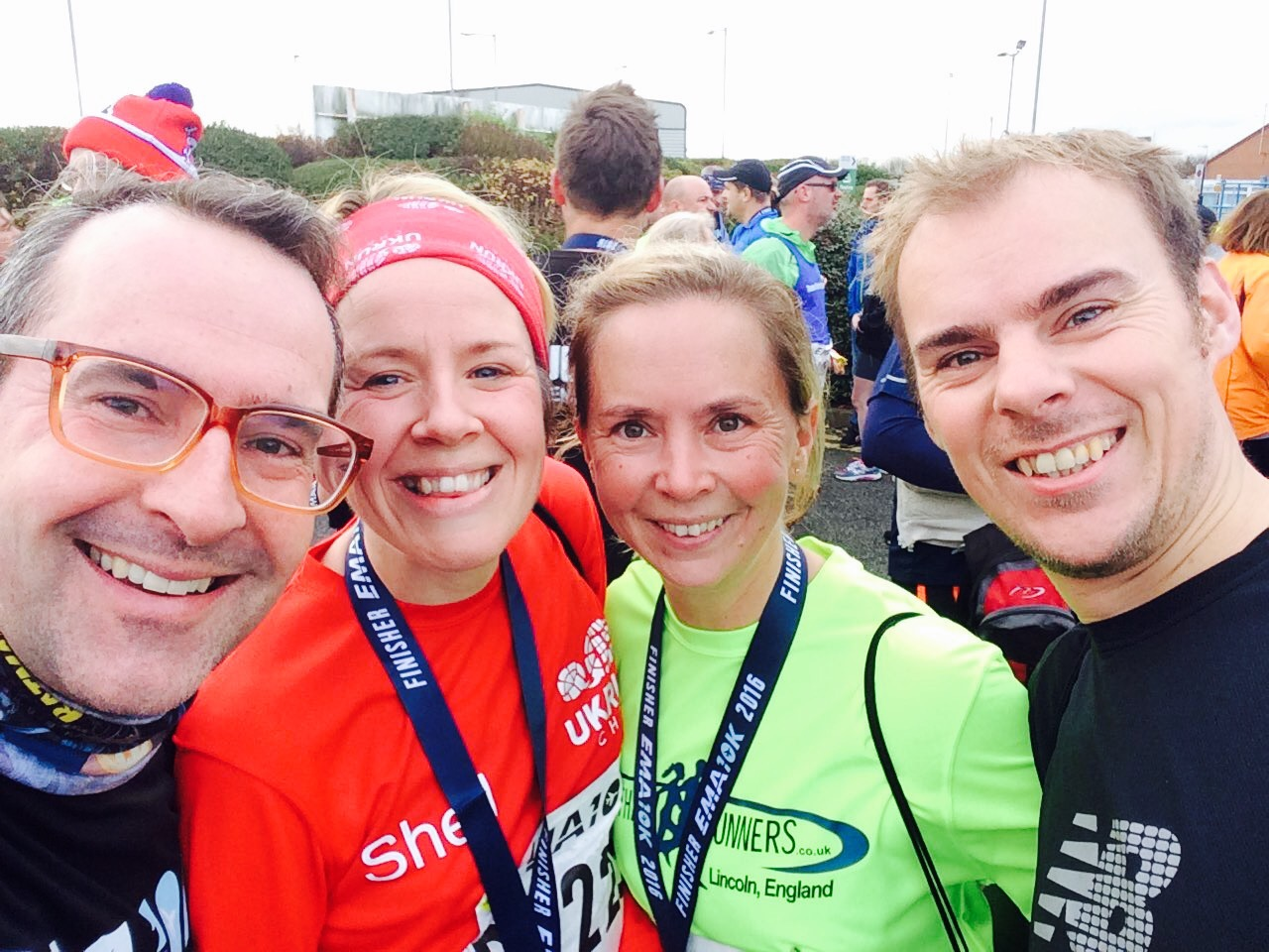 East Midlands Airport 10k in 48:48 with Jason, Sharon and Keith